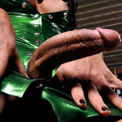Nicolly cant keep her hands off her body when shes wearing latex